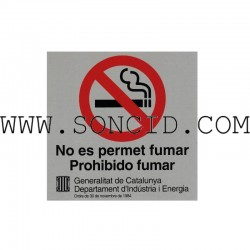 "LETRERO ""NO FUMAR"" CAT+CAST"