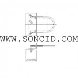 FIJACION CILINDRO 150 mm REG. 70-105-
