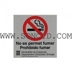 """LETRERO """"NO FUMAR"""" CAT+CAST"""