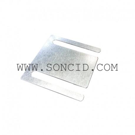 CALCE SOPORTE FRONTAL 100 x 1 mm.