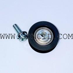 RUEDA MP D33x12 CON TORNILLERIA