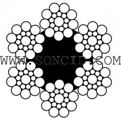 METRO CABLE ACERO 8 mm. 6x19+1 GALV-